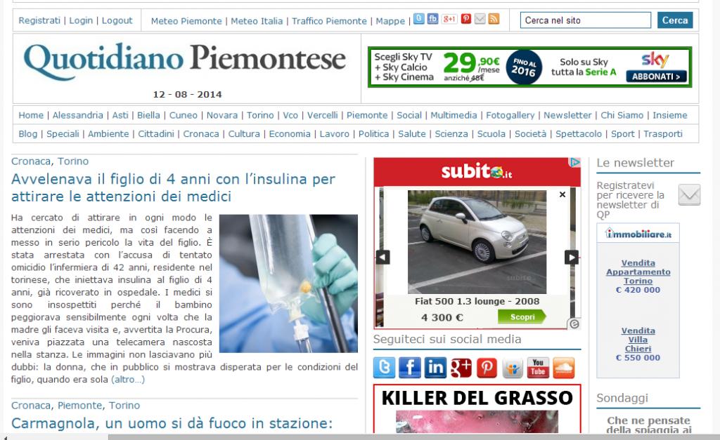 Quotidiano Piemontese   News e Informazione in Piemonte